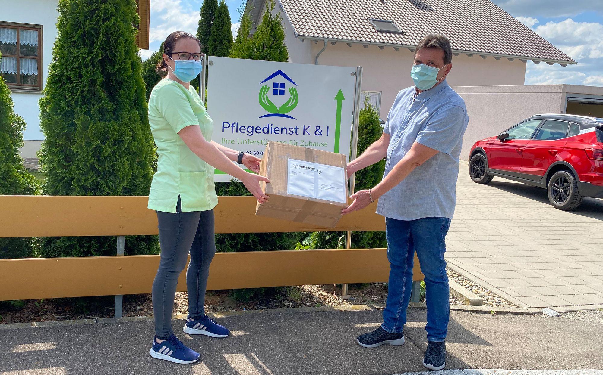 Schutzmasken für die örtlichen Pflegedienste